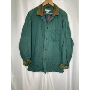 Banana Republic Lined Barn Coat Leather Collar